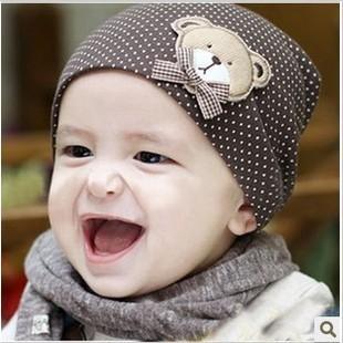 6703 child hat baby hat baby hat bear cotton cloth cap summer