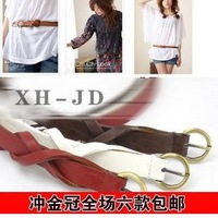 Free shipping wholesale Thin belt female belt brief female strap