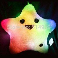 40*40cm Christmas gift LED night lights star mold pillow colorful Led lights novelty items