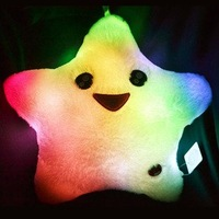 wholesale products-Christmas gift,LED night lights star mold pillow, size40*40cm colorful Led lights novelty items