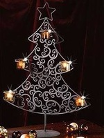 Free shipping,Christmas tree for candle,European wrought iron candle holder,iron candleholder,Christmas candle holder