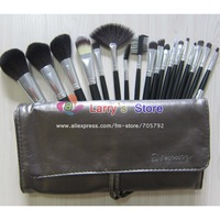 Professional Makeup Brush Set Cosmetic Make up Brushes Kit & Shiny Gray PU Case 18 Pcs/Set Free Shipping Wholesale