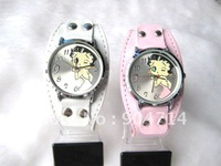 No.752 Golden edge/Children betty watches/kids KT leather strap kids Quartz watches/KT cartoon watches/Student KT watches