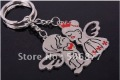Wholesale Wedding Gifts Boy Girls Angle Couple key chain Lover key ring  KC013