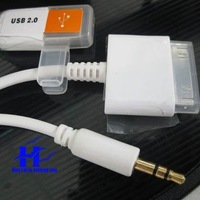 wholesale wire cable For Apple iPhone ipod AUX car audio line + charging line + usb cable free shipping