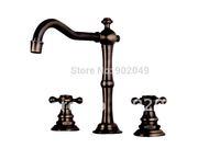 Sink Faucets Brass Zinc Alloy Dual Handle Ceramic Spool Vanity Sink Perfect Hose Discount Luxury Bathroom Tiles KF-7022