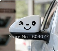 Free Shipping 1 pair/lot Smile Face Decals Sticker on Car Rearview Mirror stickers on cars car styling