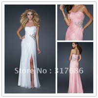 Sheath Sweetheart With Floor length Chiffon Free Shipping Prom Homecoming Formal Evening Dress