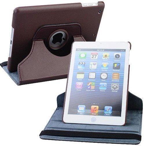 Holiday sale Free ship PU Leather 360 degree Rotation Stand Protection Cover Case for apple iPad Mini ipad 4,chrismas gift(China (Mainland))