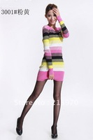 free shipping,high quality women's stripe o-neck full sleeve sweaters,ladies casual cotton polo dress,wholesale/retail