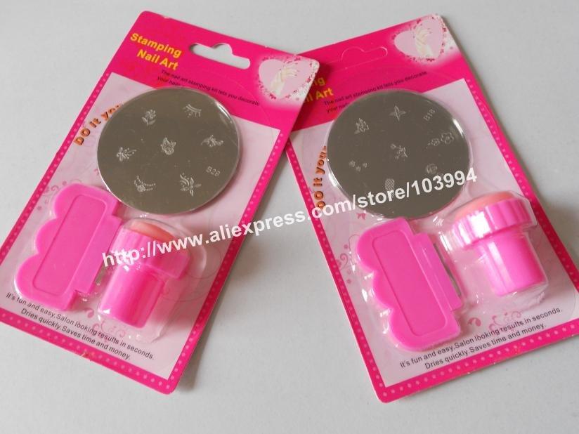 Diy Nail Art Stamping Kit: Freeshipping diy nail art stamping set.