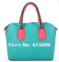 New women's women handbag ice cream candy color handbag  smile bag vintage shoulder bag candy color casual bag free shipping