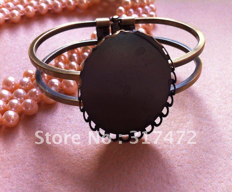 Bangle Bracelet Blanks Vintage Oval Blank Cuff Bangle