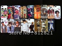 One Direction,Justin Bieber, psy gangnam style plastic hard case for iphone 5 ,100pcs/lot, Free shipping
