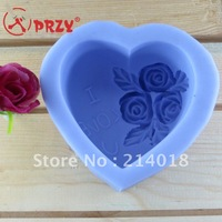 New style Heart-shaped silica gel chocolate Manufacture mold I LIVE YOU word (si060)