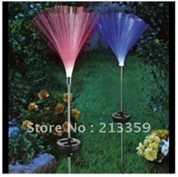 Free Shipping for Solar energy lawn lamp colorful  change fiber plug ground lamp Christmas lights garden light outdoor lamp Hot!
