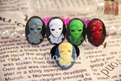 Free shipping CHEAP 18*25mm 5colors Flatback Resin Skull Cabochon for Jewelry / Mobile Phone DIY Accessory Wholesale 100pcs/lot(China (Mainland))