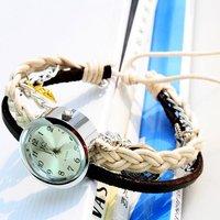 Hand braided fashion Quartz Bracelet Watch Free shipping