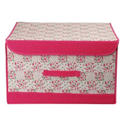 Small clothes storage box underwear storage box Large plus size clothing baina box cotton cloth(China (Mainland))
