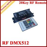 20Key RF DMX512 Decoder, 3 Channels,  Wireless DMX512 Decoder with Remote, Controller for RGB LED Strip