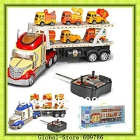 New Arrival RC Trucks Big Size RC Truck with flashing lights and Music  RC Toys Best Christmas Gift  Double-deck car model