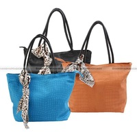 Women Fashion Casual Vintage Crocodile Pattern Scarf Tote Shoulder Bag Handbag WBG1016 from ShanghaiMagicBox