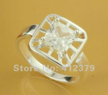 SIZE 8# Free Shipping 925 sterling silver ring 925 ring silver ring silver Fashion jewelry  chea kyla tpua GY-PR205