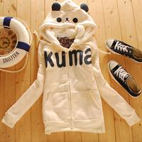 Free Shipping ETAM  autumn and winter thickening sweatshirt young girl school wear outerwear