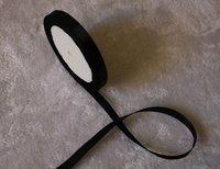 "wholesale-free shipping 3/8"" 9mm 25yds/pcs   Wedding Party Craft  Satin Ribbon  Black"