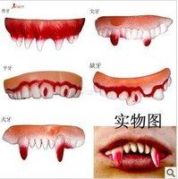 Halloween is April fool's day those trick wacky vampire devil beast dentures canine teeth more modelling dentures