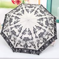 [ANYTIME]Original Treeelephants Brand -Hot-selling Three Folding Automatic Sun Protection Cupid Arrow Umbrella- Free Shipping