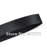 "wholesale Polyester Single Face  1-1/2"" 38mm 100yds/pcs   Wedding Party Craft  Satin Ribbon black"