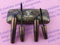 12SET!  New Waterproof   Mascara with Serpentinite Package Double Mascaras black fiber 1 Set=2Pcs Free shipping