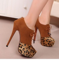 2012 Newly Free Shipping Fashion Flock Boots Sexy Thick High-Heel Boots Side Zipper Ankle Boots QB280
