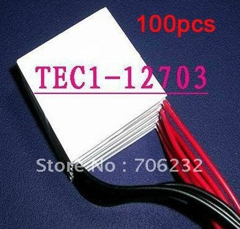 Wholesale 100pcs/lot TEC1-12703 Thermoelectric Cooler Peltier 12703 12V 3A Cells TEC12703 Module EMS Free Shipping