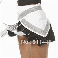 cheerleading uniform Custom uniform Form flex skirt white  black silver white skirt mini order 5 pieces custom style