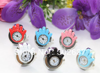 FREE SHIPPING 6PCS mixed colors hand elastic band Watch Finger Rings #22326