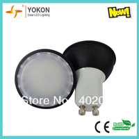 Free shipping 10pcs/lot 5W 300LM Warm White GU10 LED spotlight 120degree Beam
