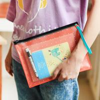 a5 Medium fashion bracelet jelly color paper bags storage bag,file pocket ,expanding file