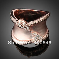 Free Shipping Arinna Finger Ring J0298 with Swarovski Element