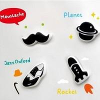 Zakka ceramic refrigerator magnets stickers 4 pieces set free air mail