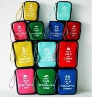 Zakka keep calm summer fresh japanned leather cosmetic bag storage bag free air mail