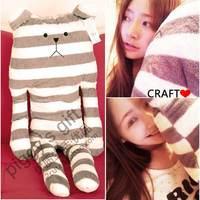 Plush stripe bear Large doll pillow 0.8kg free air mail