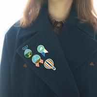 Zakka series decoration brooch badge 4 pcs set free air mail