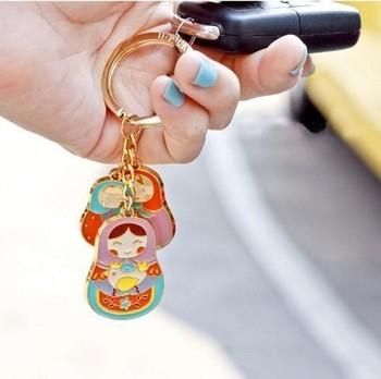 Zakka russian dolls beautiful box car keychain key ring key ring free air mail