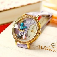 Mini clay fashion women's flower watch secret garden free air mail
