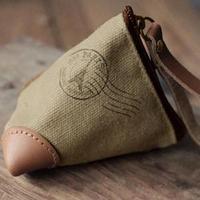 Zakka brief canvas trigonometric coin case coin purse free air mail