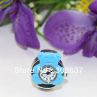 FREE SHIPPING 5PCS skyblue bear elastic band Watch Finger Rings #22330