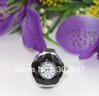 FREE SHIPPING 5PCS black flower elastic band Watch Finger Rings #22334