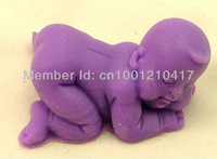 Free Shipping 3D Cute Baby Flexible Silicone Mold/Mould For Handmade Soap Candle Candy Jewelry Jelly Cake Fimo Resin Crafts
